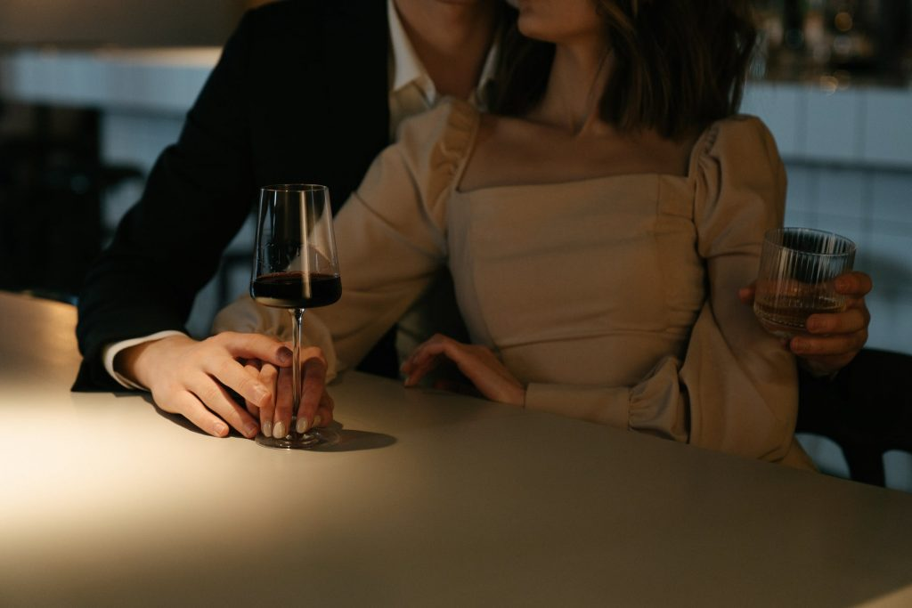 Couple Holding Wine Glass