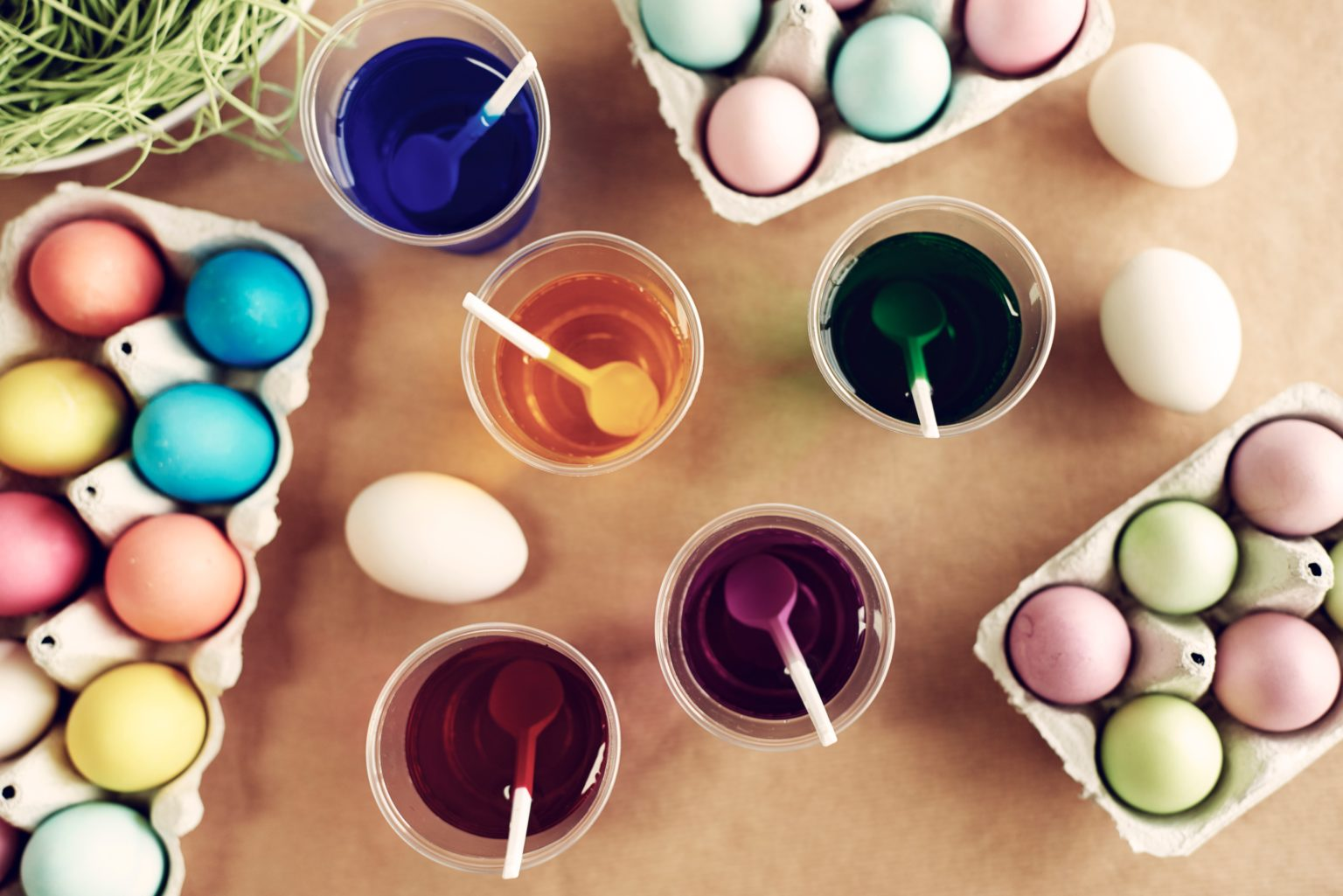 Snap of Easter ornaments preparation