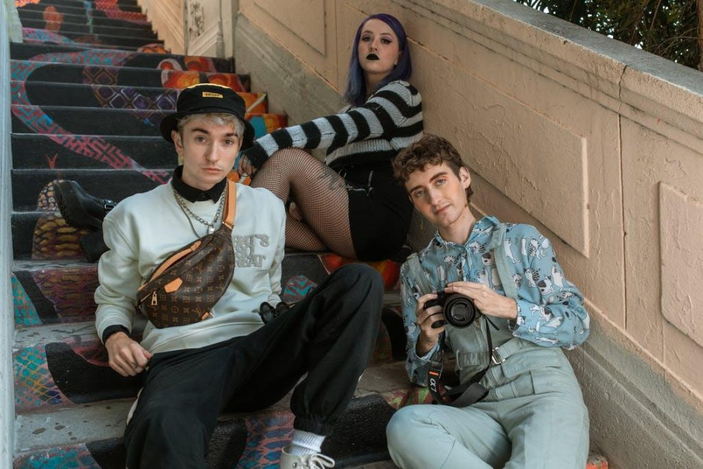 Teenagers on the stairs